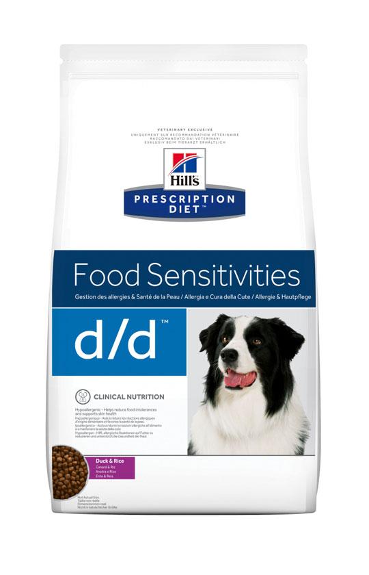 HILL'S PRESCRIPTION DIET D/D FOOD SENSITIVITIES лікувальний сухий корм з качкою і рисом для собак з харчовими алергіями