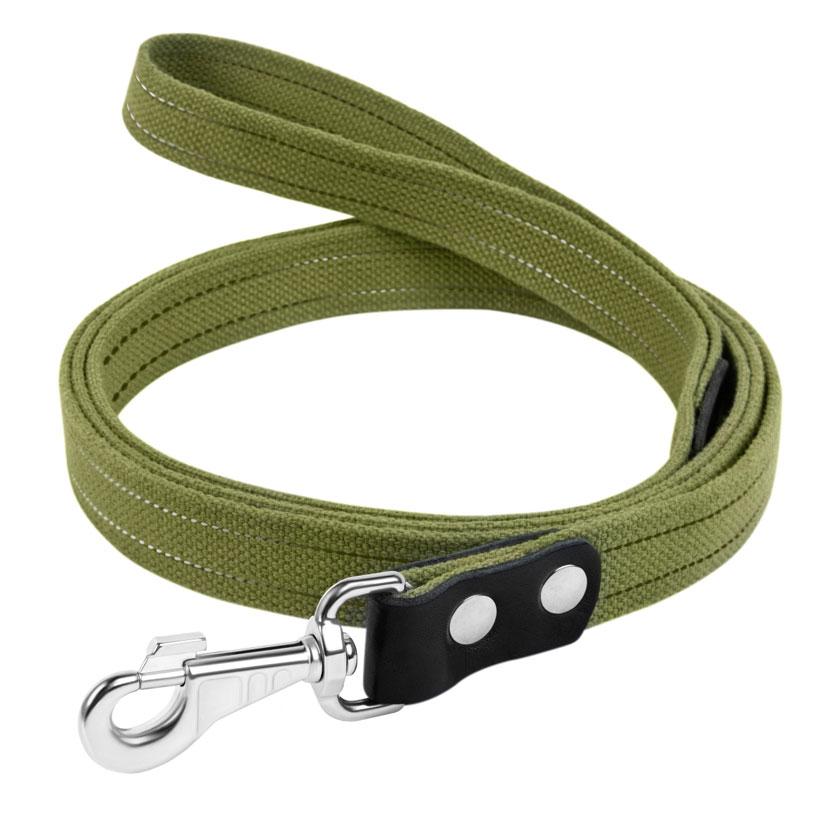 Collar брезентовый поводок для собак со светоотражающей нитью, 20 мм, 150 см
