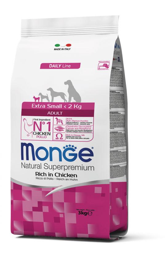 Monge Extra Small Adult Chicken – сухой корм с курицей для взрослых собак миниатюрных пород
