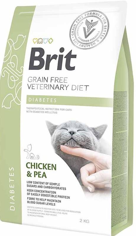 Brit Veterinary Diet Cat Diabetes – лікувальний сухий корм для дорослих котів при цукровому діабеті
