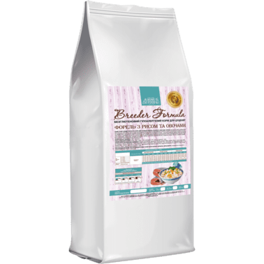 Home Food с форелью, рисом и овощами сухой корм для щенков больших пород