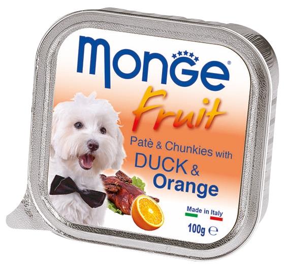 Monge Fruit with Duck and Orange – консервы с уткой и апельсином для собак