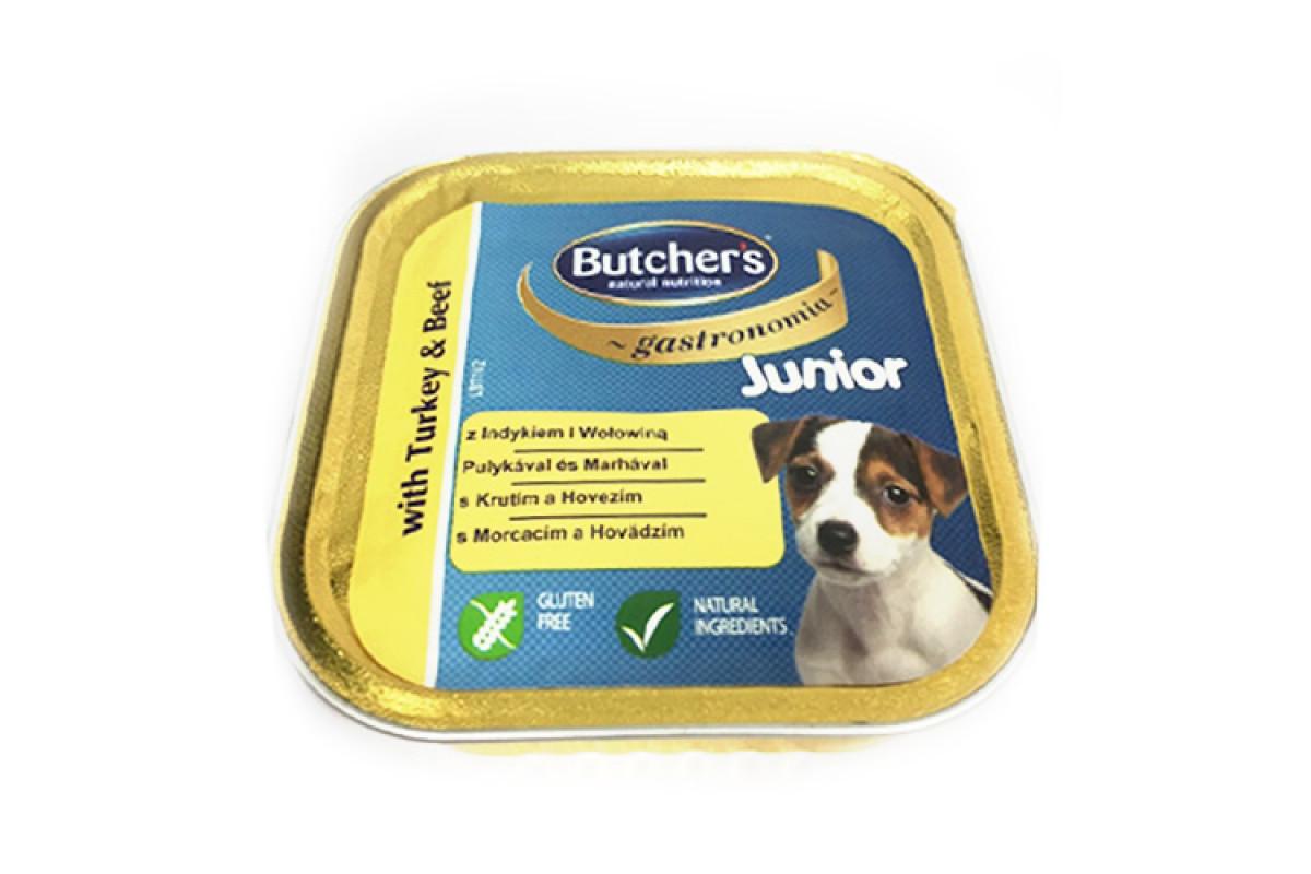 Butcher's Basic Junior вологий корм для молодих собак з індичкою і яловичиною