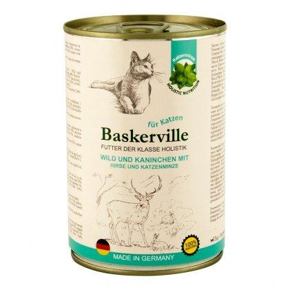 BASKERVILLE HOLISTIC влажный корм с олениной, пшеном и кошачьей мятой для взрослых котов