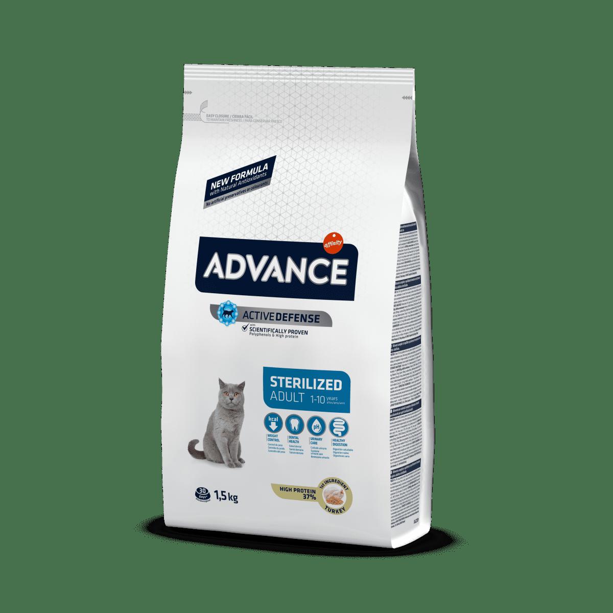 Advance Sterilized – сухой корм для стерилизованных котов и кошек