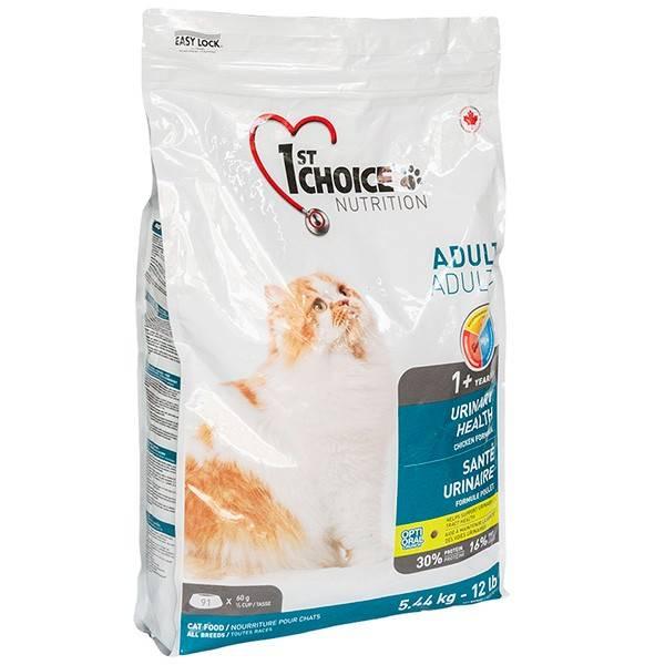 1ST CHOICE URINARY HEALTH – сухой корм для взрослых котов для поддержания здоровья мочевыделительной системы