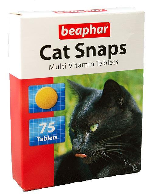 Beaphar Cat Snaps – витамины с креветками, таурином и биотином для взрослых котов