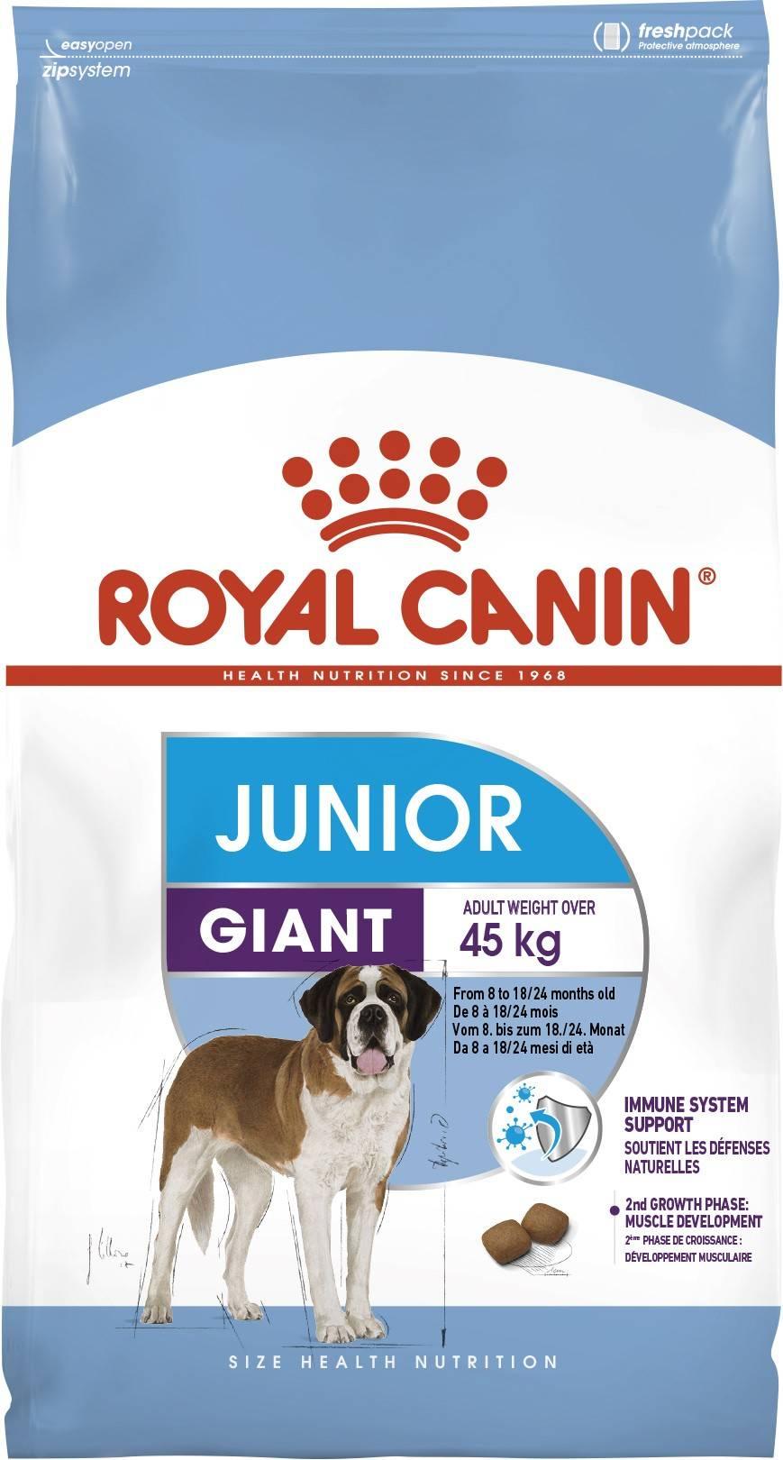 ROYAL CANIN GIANT JUNIOR – сухой корм щенков очень крупных пород