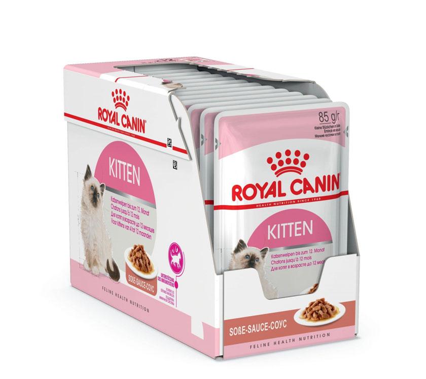 ROYAL CANIN  KITTEN wet in gravy  – влажный корм, кусочки в соусе, для котят