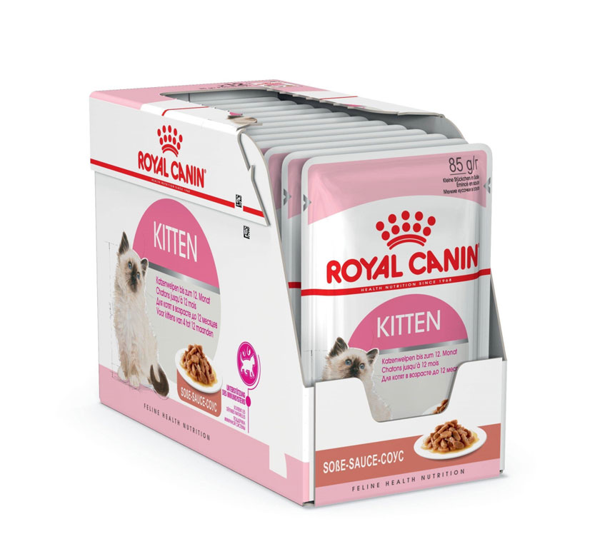 ROYAL CANIN KITTEN wet in gravy – вологий корм, шматочки в соусі, для кошенят