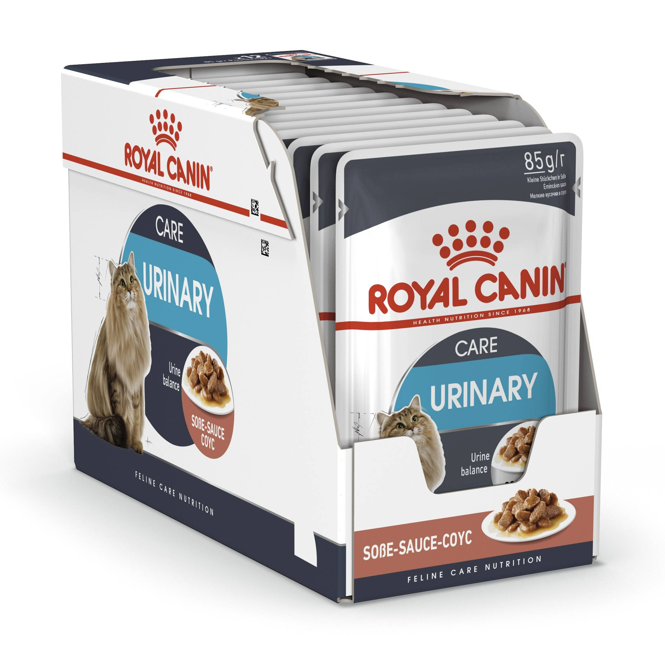 ROYAL CANIN URINARY CARE – влажный корм для взрослых котов для поддержания здоровья мочевыделительной системы