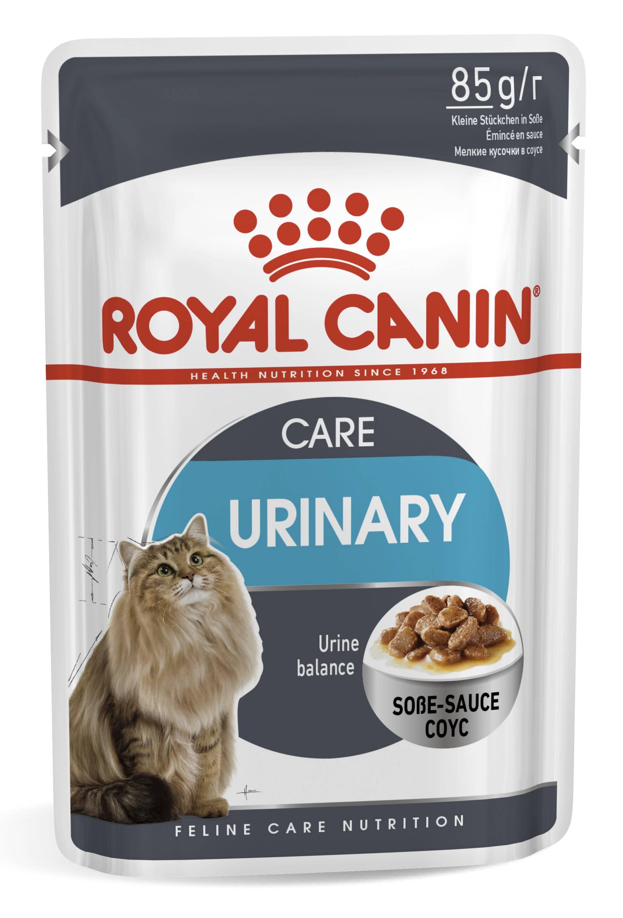 ROYAL CANIN URINARY CARE – вологий корм для дорослих котів для підтримки здоров'я сечовидільної сиситеми