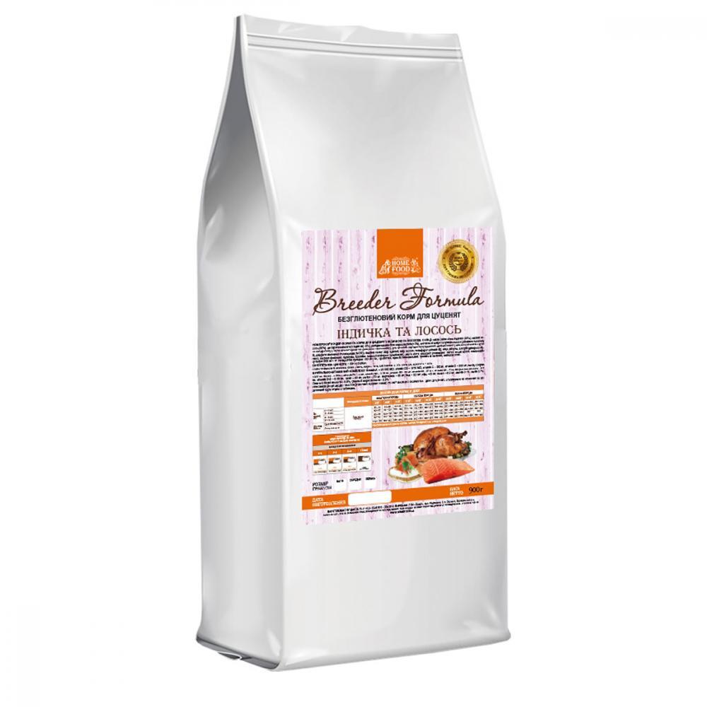 Home Food Mini с лососем и индейкой – сухой корм для щенков малых пород