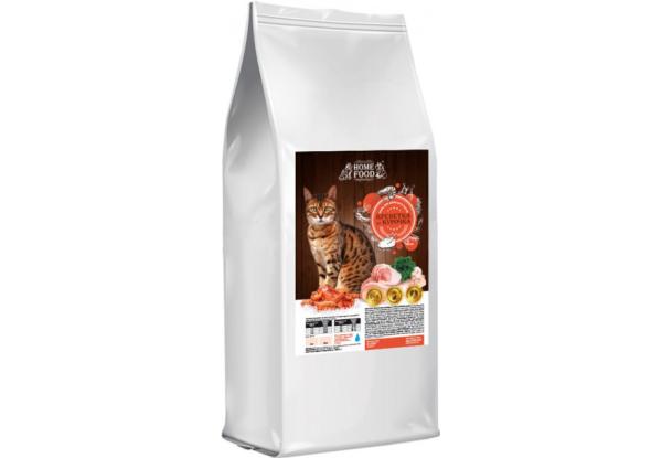 Home Food з креветками та куркою – сухий корм для дорослих котів