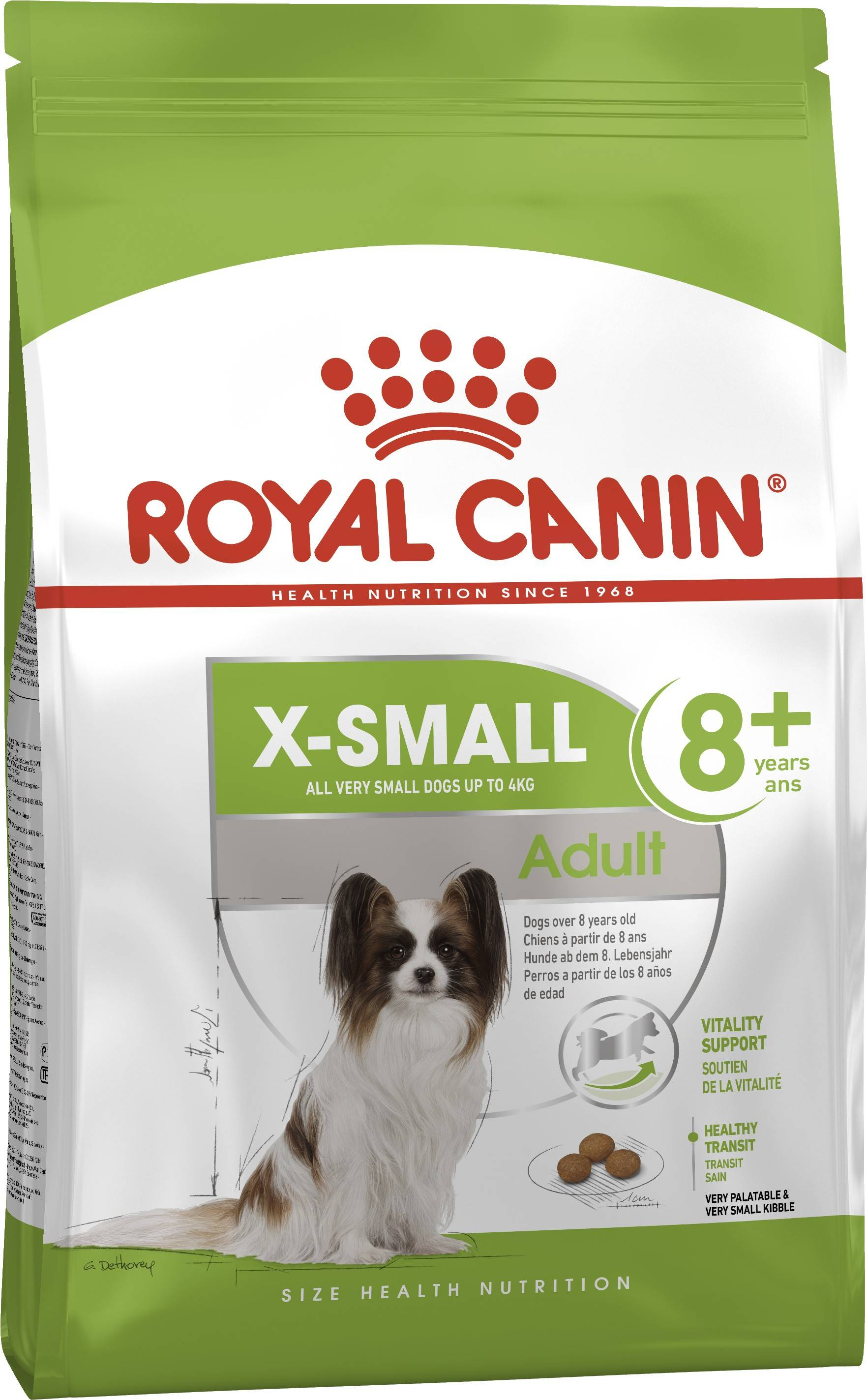 ROYAL CANIN X-SMALL ADULT 8+ – сухий корм для собак мініатюрних порід старше 8 років