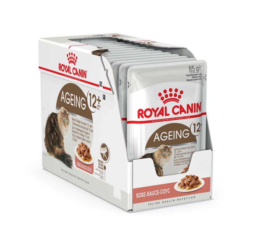 ROYAL CANIN AGEING 12+ wet in gravy – влажный корм для котов старше 12 лет