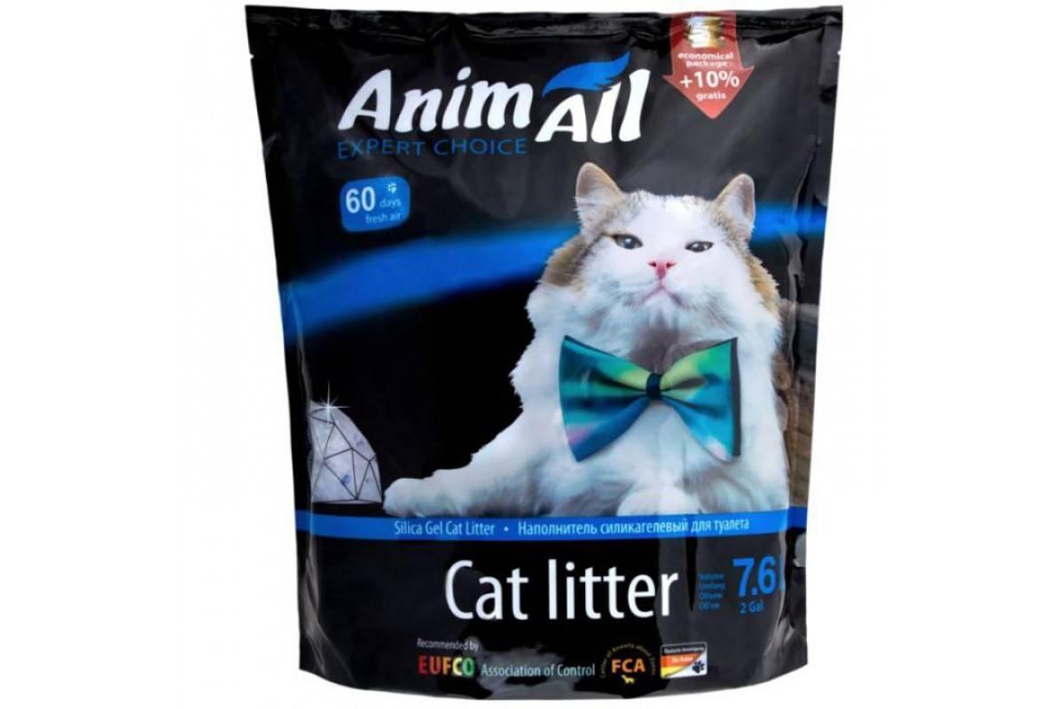 """AnimAll """"Кристаллы аквамарина"""" – силикагелевый наполнитель для кошачьих туалетов"""