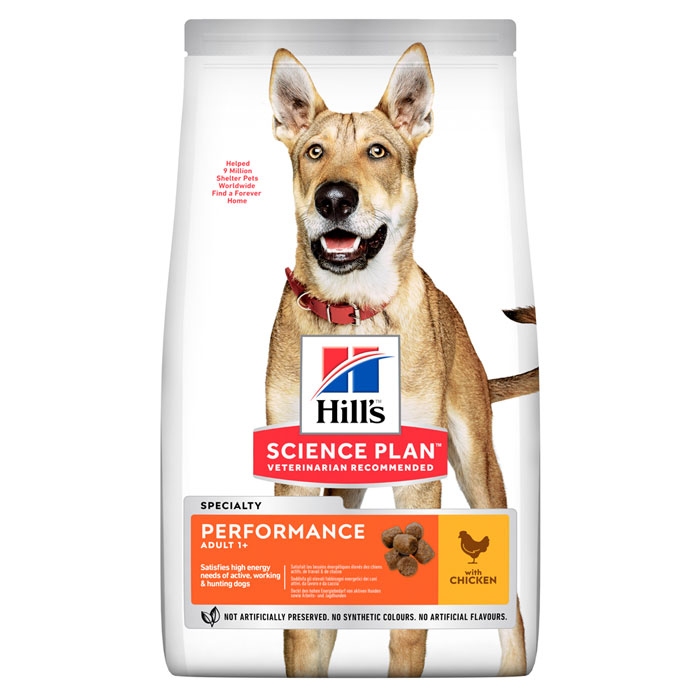 HILL'S SCIENCE PLAN ADULT PERFORMANCE – сухой корм с курицей для взрослых активных собак