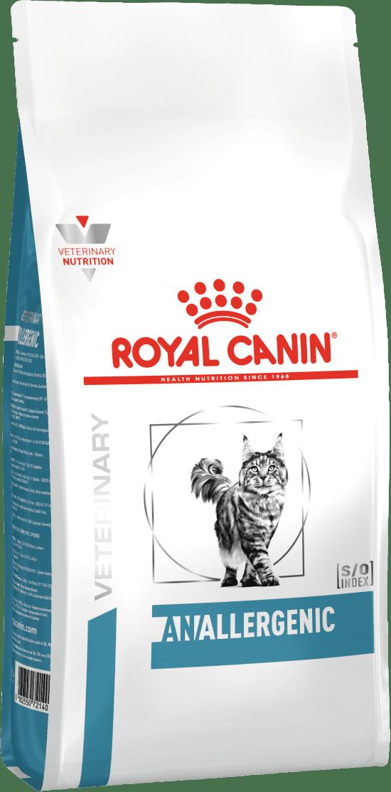 ROYAL CANIN ANALLERGENIC FELINE – лечебный сухой корм для взрослых котов при пищевой аллергии
