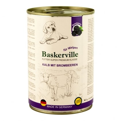 Baskerville вологий корм з телятиною і ожиною для цуценят