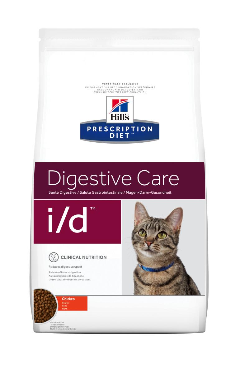 HILL'S PRESCRIPTION DIET I/D  DIGESTIVE CARE – лечебный сухой корм для кошек с расстройствами пищеварения