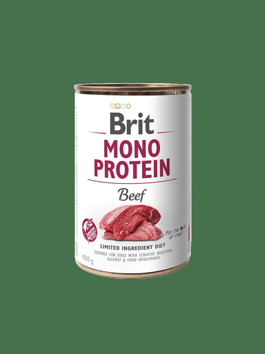 BRIT MONO PROTEIN DOG BEEF – консервы с говядиной для взрослых собак с чувствительным пищеварением