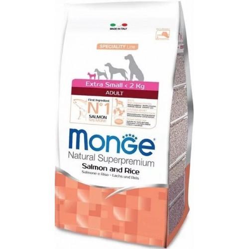 Monge Extra Small Adult Salmon – сухой корм с лососем для взрослых собак миниатюрных пород