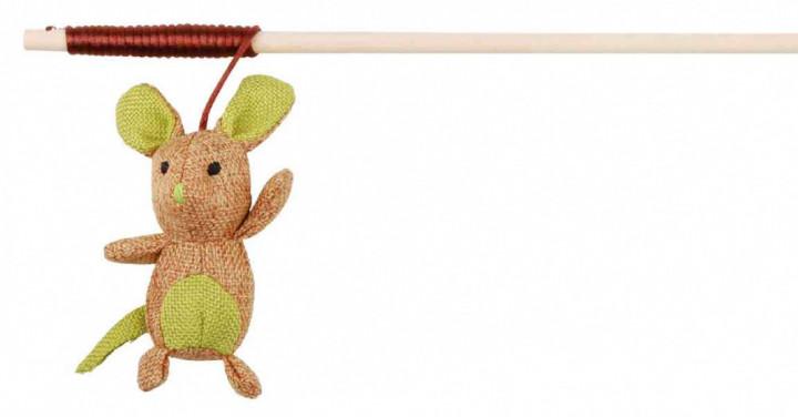 Trixie игрушка-дразнилка с мышкой из джгута для кошек