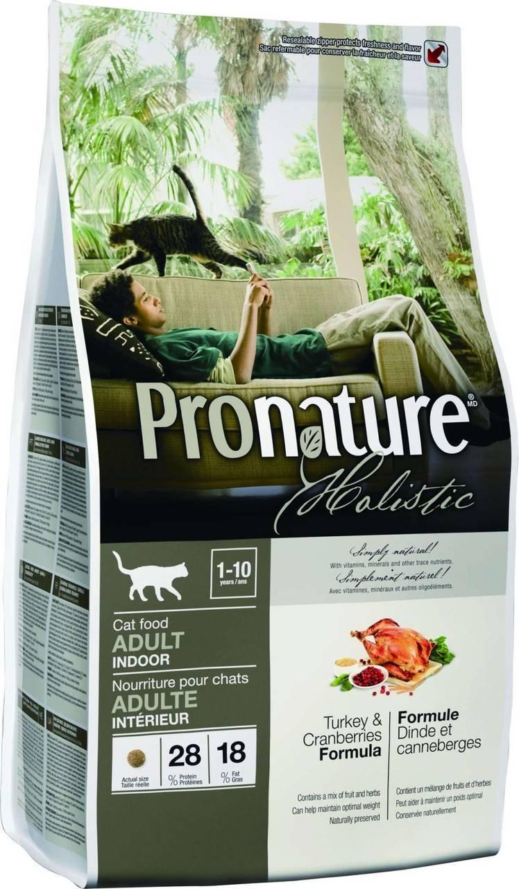 Pronature Holistic сухий корм для дорослих кішок з індичкою і журавлиною