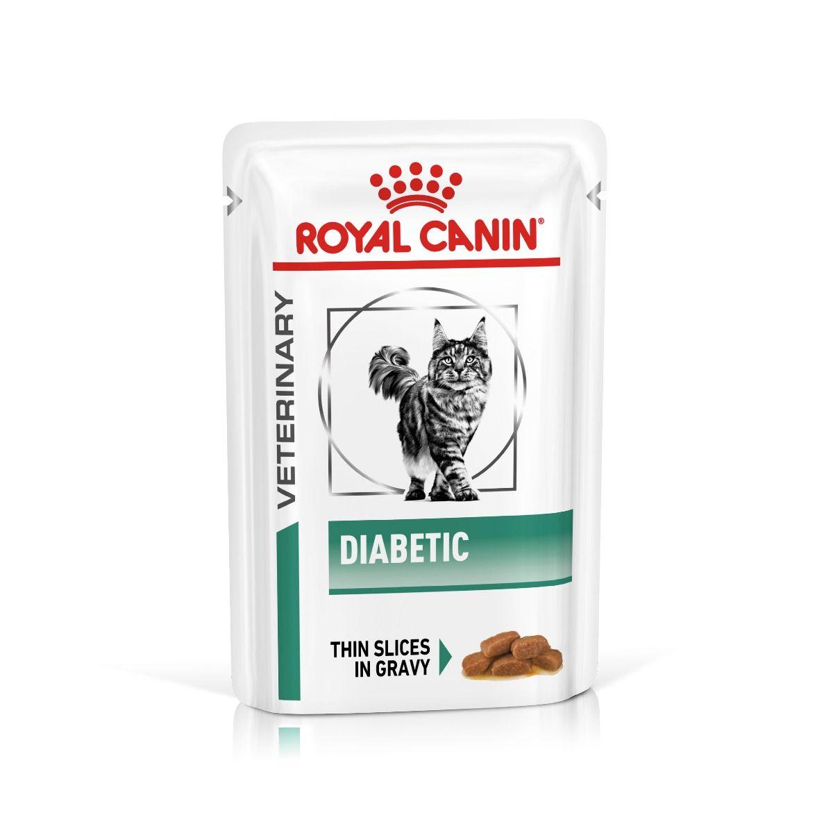 ROYAL CANIN DIABETIC FELINE Pouches – лечебный влажный корм для взрослых котов при сахарном диабете