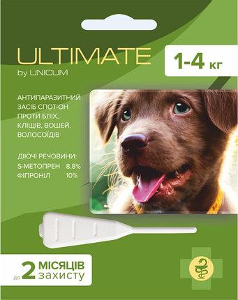 ULTIMATE краплі від бліх, кліщів, вошей і волосоїдів для собак вагою від 1 кг до 4 кг