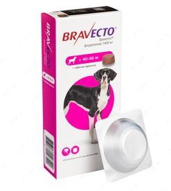 Bravecto жувальні таблетки від бліх і кліщів для собак вагою від 40 кг до 56 кг
