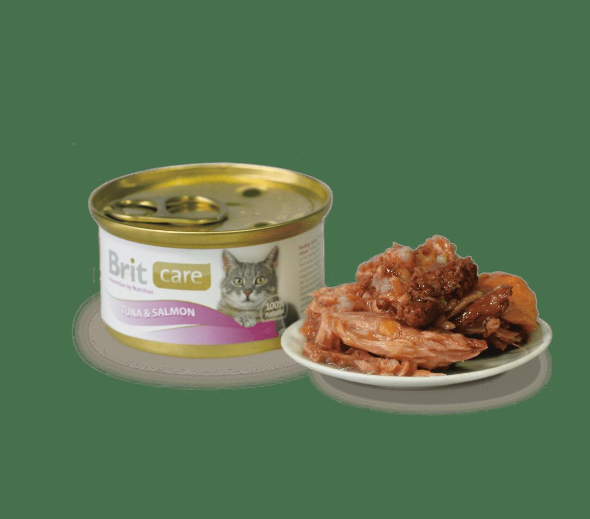 BRIT CARE CAT SALMON&TUNA – консервы с лососем и тунцом для взрослых котов