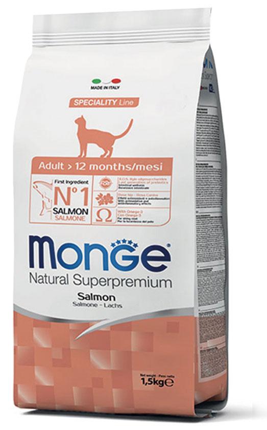 Monge Cat Adult Salmon – сухой корм с лососем для взрослых котов
