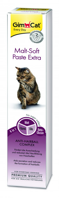 GimCat Malt-Soft «Экстра» – паста для выведения шерсти и улучшения пищеварения