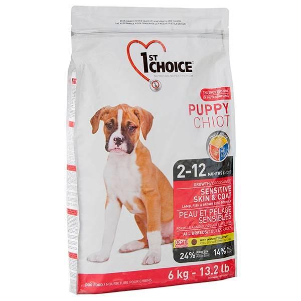 1ST CHOICE PUPPY SENSITIVE SKIN & COAT ALL BREEDS – сухой корм для щенков всех пород с чувствительной кожей и шерстью