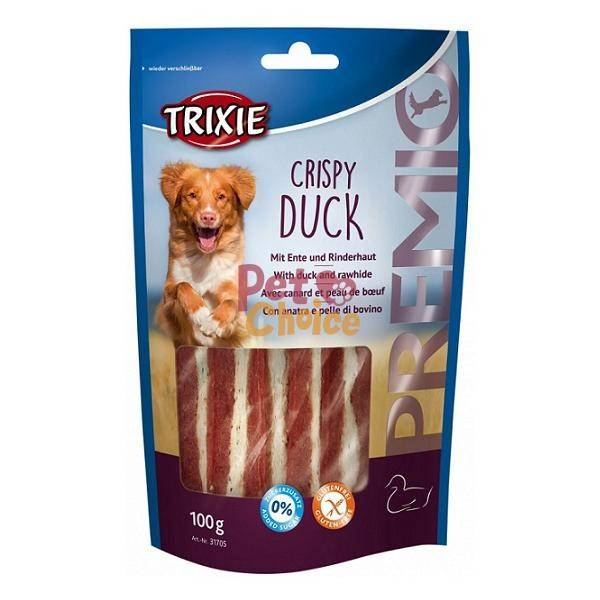 Trixie Premio Crispy Duck – ласощі з м'ясом качки і з сириці для собак