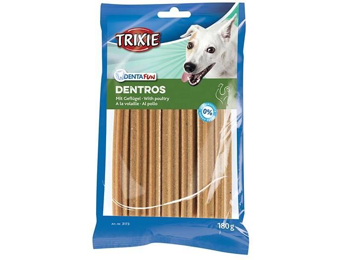 Trixie Dentros – лакомство с мясом птицы для очищения зубов собак от налета