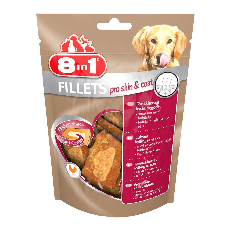 8in1 Fillets Pro Skin & Coat S – лакомство для собак для здоровья кожи и шерсти