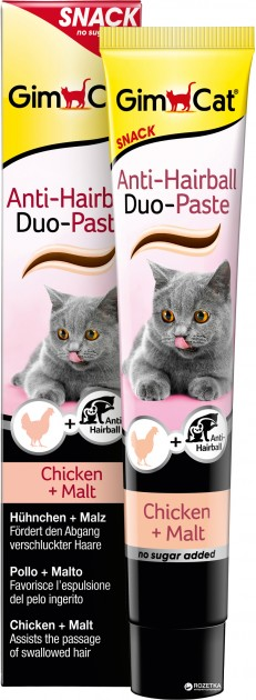 Gimcat Anti-Hairball Duo-Paste паста с курицей для вывода комков шерсти