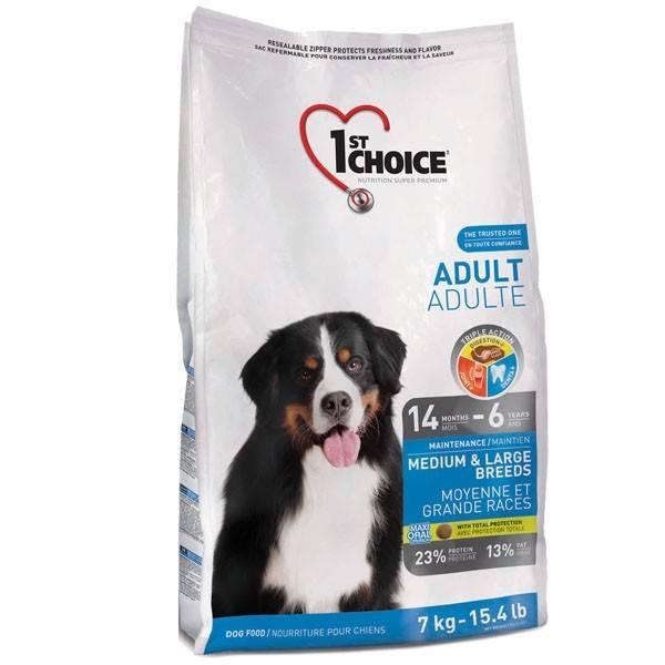1ST CHOICE ADULT MEDIUM AND LARGE BREEDS – сухой корм для взрослых собак средних и больших пород