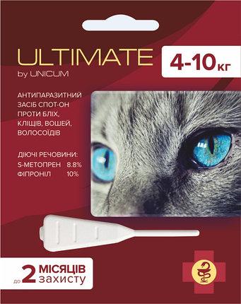 ULTIMATE краплі від бліх, кліщів, вошей і волосоїдів для котів масою 4-10 кг