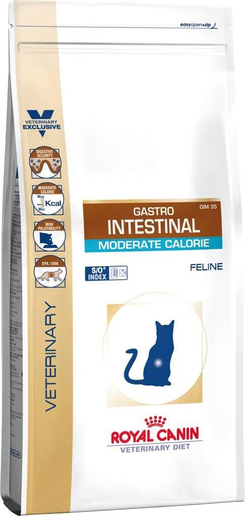 ROYAL CANIN GASTRO INTESTINAL MODERATE CALORIE FELINE – лечебный сухой для взрослых котов при нарушении пищеварения