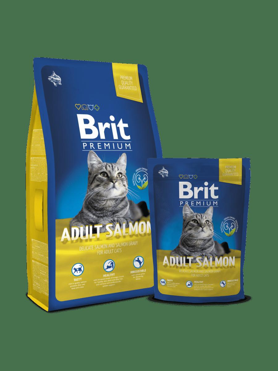 BRIT PREMIUM CAT ADULT SALMON – сухой корм с лососем для взрослых кошек