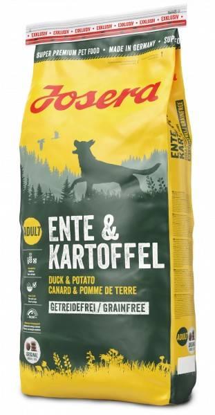 JOSERA ENTE & KARTOFFEL – сухой корм с уткой и картофелем для взрослых собак всех пород