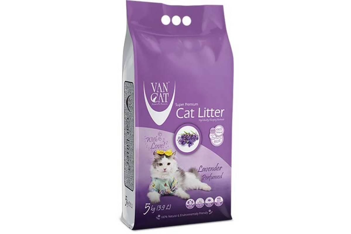 VanCatLavender – бентонитовый наполнитель для кошачьего туалета с ароматом лаванды