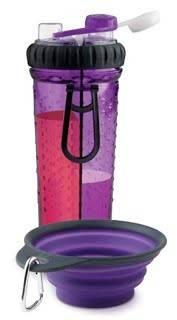 Dexas H-Duo with Companion Cup – двойная бутылка для воды со складной миской