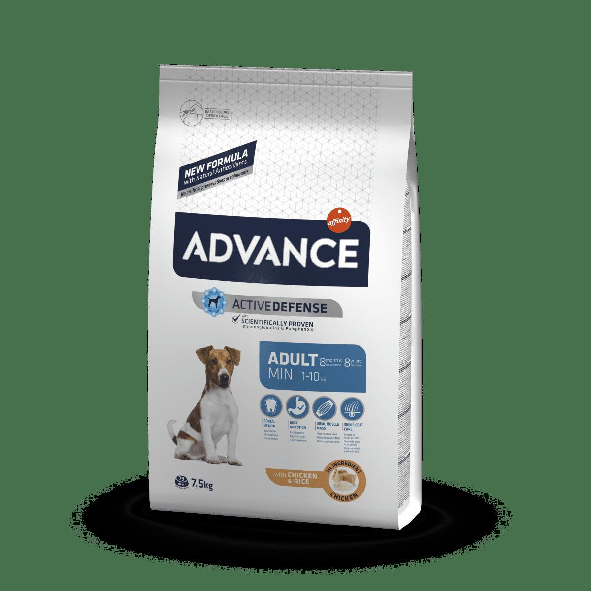 Advance Mini Adult – сухой корм для взрослых собак маленьких пород