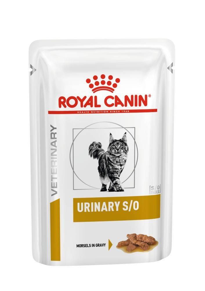 ROYAL CANIN URINARY S/O FELINE Pouches wet in gravy– лечебный влажный корм, кусочки в соусе, для взрослых котов при заболеваниях нижних мочевыводящих путей