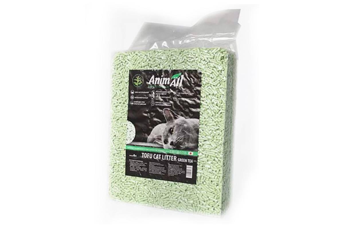 ANIMALL TOFU соевый наполнитель для кошачьего туалета с ароматом зеленого чая